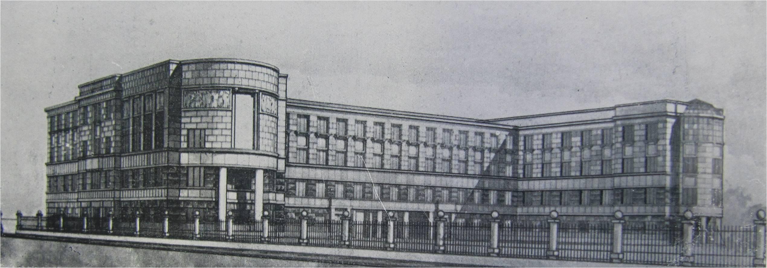2.Московский пр., 80. Школа. 1934-1936 гг. Проект.