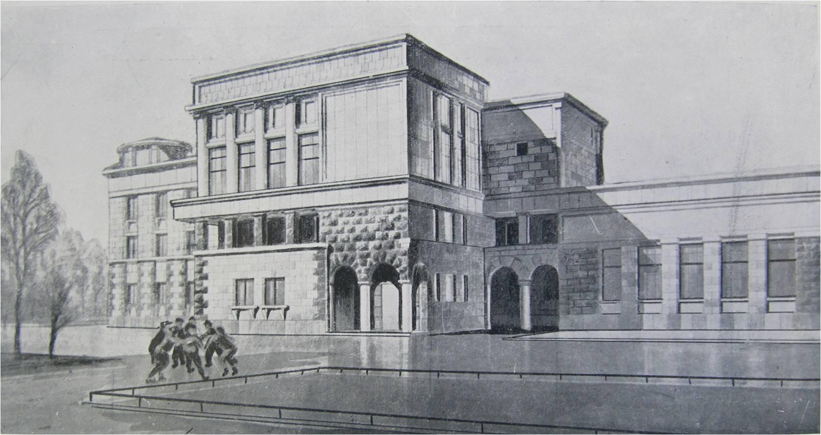 7.Ул. Черняховского, 30. Школа. 1934-1936 гг. Проект.